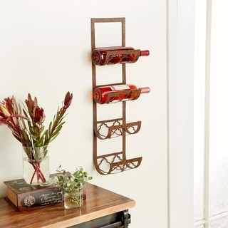 Metal 28-inch Wall Wine Rack
