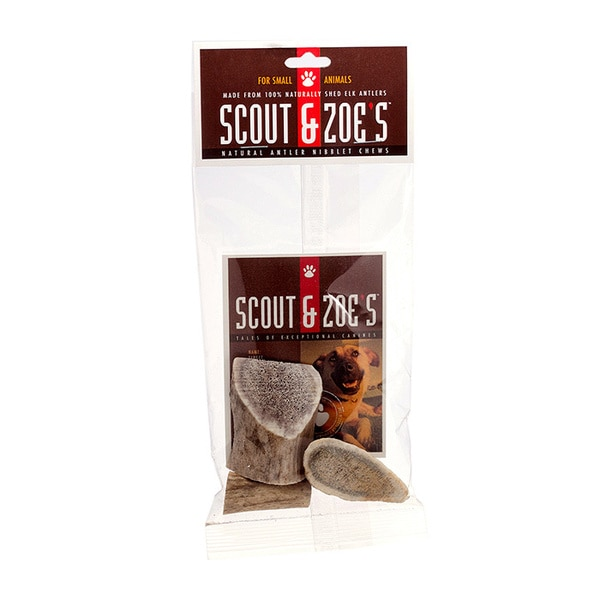Scout & Zoe's 100-percent USA Elk Antler Niblet Pet Treats for Small Dogs