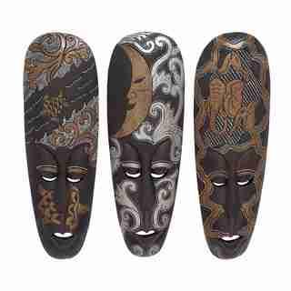 Assorted African Masks (Set of 3)
