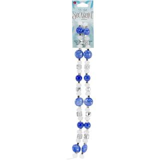 Tis The Season Bead Strand - Blue and Silver Acrylic&Glass 70/Strand