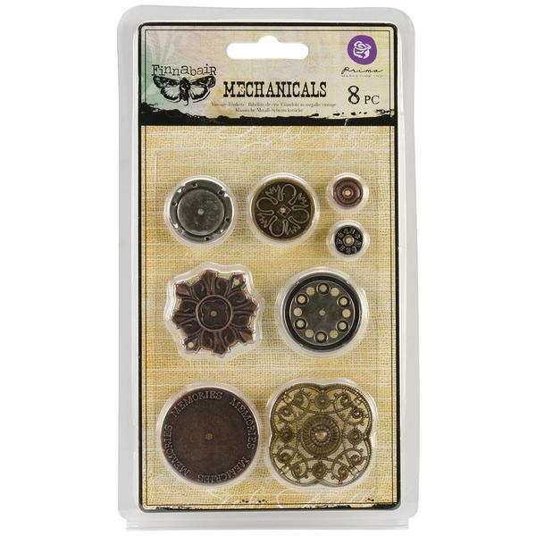 Mechanicals Metal Embellishments - Washers 8/Pkg