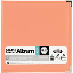 We R Faux Leather 3-Ring Binder 8.5 X11 - Coral