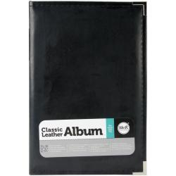 We R Classic Leather Ring Photo Album 6 X12 - Black