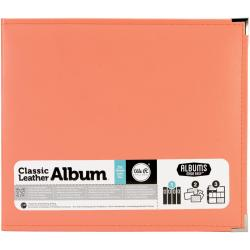 We R Faux Leather 3-Ring Binder 12 X12 - Coral