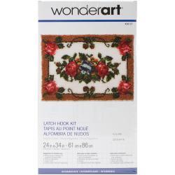 Wonderart Latch Hook Kit 24 X34 - Elegant Roses