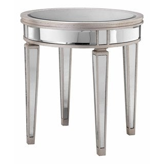 Glendore Round Bent Mirror Accent Table