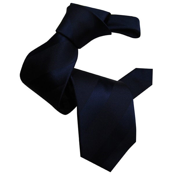 Navy Dmitry Men's Navy Striped Italian Silk Tie