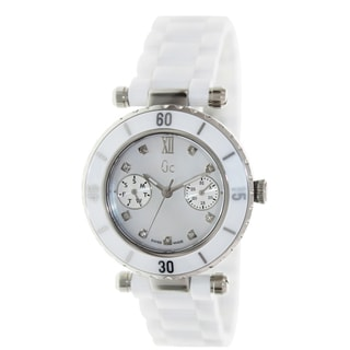 Guess Collection Women's 'Diver Chic' White Ceramic Quartz Watch