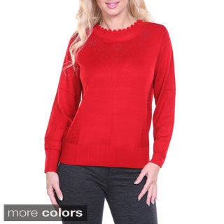 Women's Rhinestone Embellished Sweater