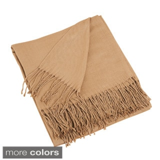 Solid Woven Throw