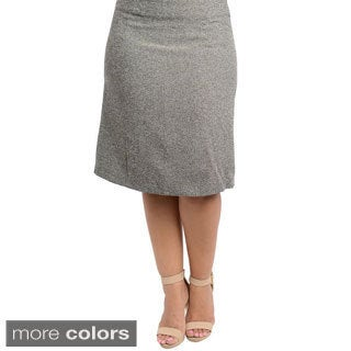 Stanzino Women's Plus Size Knee-length Skirt