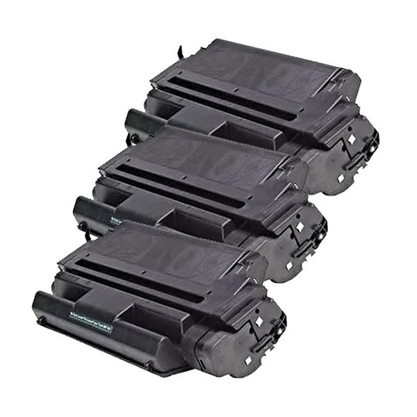 HP C3909A (HP 09A) Remanufactured Compatible Black Toner Cartridge (Pack of 3)