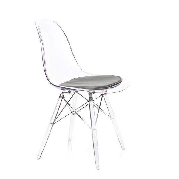 American Atelier Living Banks Clear/ Dark Grey Cushion Chair