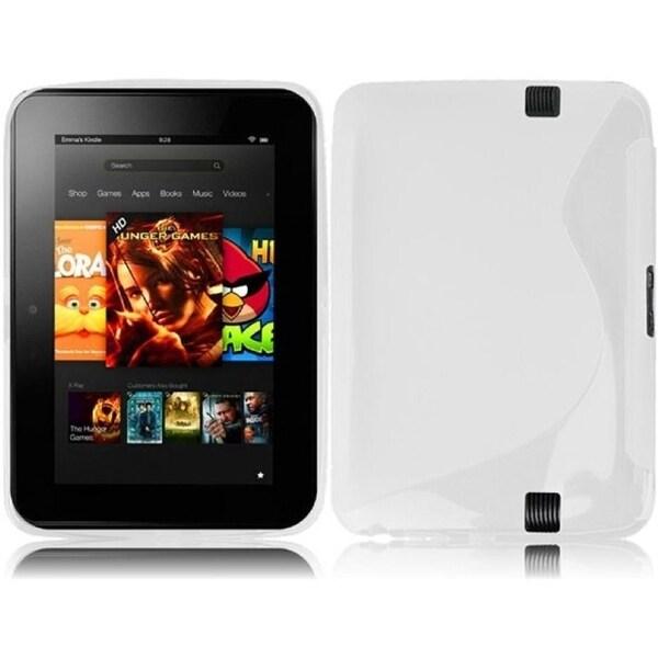 BasAcc White S Shape TPU Case for Amazon Kindle Fire HD7