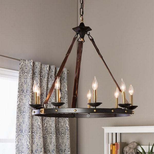 Cavalier 9-light Black Chandelier