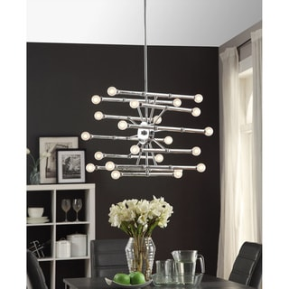 Bali 22-light Chrome Chandelier