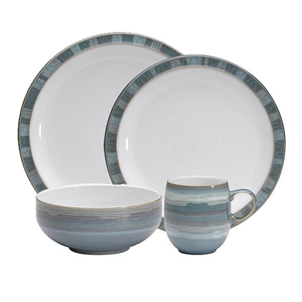 Denby 'Azure Coast' 4-piece Place Setting Set