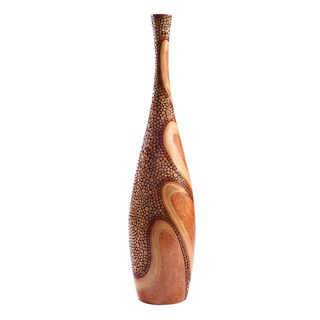 Tan and Bronze Floor Vase