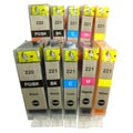 Canon PGI220 CLI221 Compatible 5-piece Ink Cartridge Set (Set of 2)