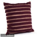 Pleated Design Felt Decorative Pillow