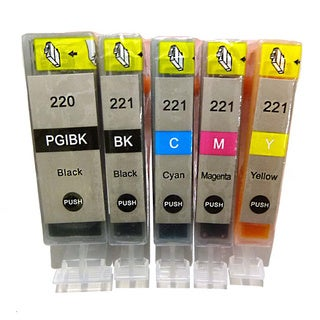 Compatible Canon PGI-220 CLI-221 Canon PIXMA iP3600 iP4600 iP4700 Ink Cartridge (Pack of 5)