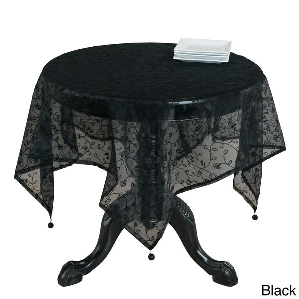 Flocked Organza Table Topper (Multi Colors Available)