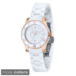 Klaus Kobec Women's 'Aurora' Stainless Steel Watch