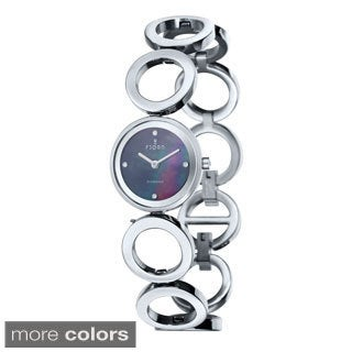 Fjord 'Abellona' Women's Stainless Steel Mother-of-Pearl Dial Watch
