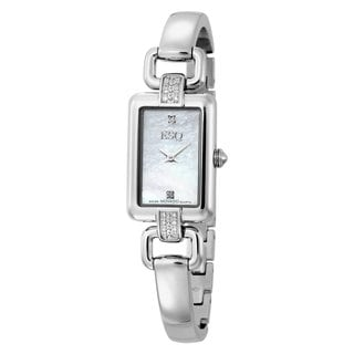 ESQ by Movado Women's White Diamond Accent Stainless Steel Watch