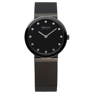 Bering Time Women's Ceramic Grey Mesh Watch
