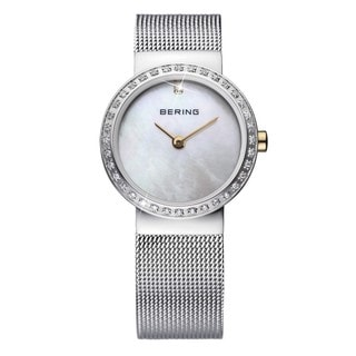 Bering Time Women's Mother-of-Pearl Dial Stainless Steel Watch