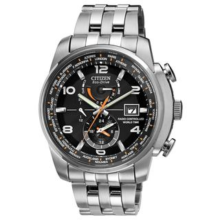 Citizen Men's Eco-Drive Time Zone Stainless Steel Watch