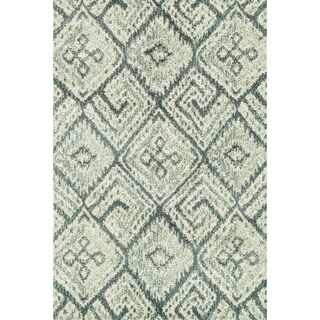 Microfiber Woven Beckett Teal/ Multi Rug (3'6 x 5'6)