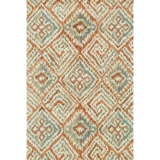Microfiber Woven Beckett Copper/ Multi Rug (5'0 x 7'6)