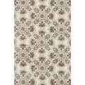 Microfiber Woven Beckett Brown/Grey Rug (3'6 x 5'6)