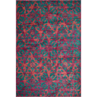 Laurent Plum/ Multi Rug (3'9 x 5'2)
