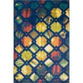 Laurent Blue/ Multi Rug (2'0 x 3'0)