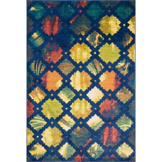 Laurent Blue/ Multi Rug (3'9 x 5'2)