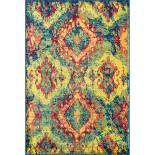 Skye Monet Blue/ Multi Rug (3'9 x 5'2)