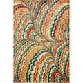Skye Monet Orange/ Multi Rug (5'2 x 7'7)