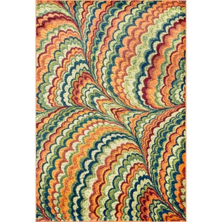 Skye Monet Orange/ Multi Rug (3'9 x 5'2)
