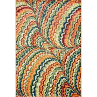 Skye Monet Orange/ Multi Rug (7'7 x 10'5)