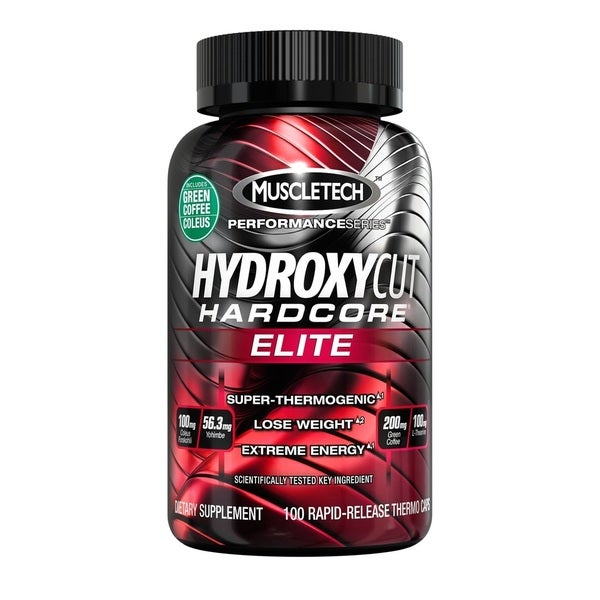Hydroxycut Hardcore Elite Dietary Supplement (100 Rapid-Release Thermo Caps)