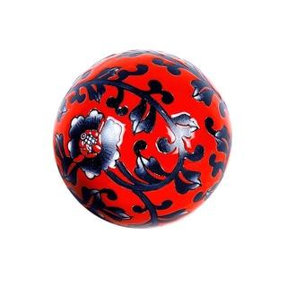 Privilege Large Floral Ceramic Sphere Accent Piece