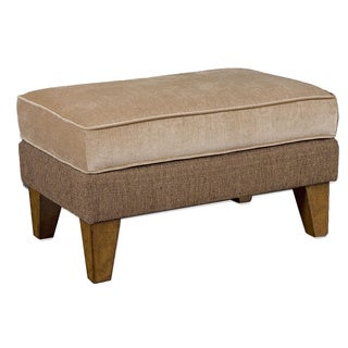 Daily Almond Beige/ Coffee Bean Upholstered Ottoman