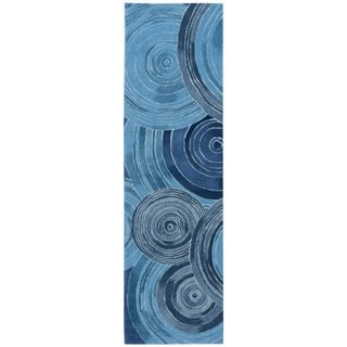 kathy ireland Home Palisades Denim Runner Rug (2'3 x 8')
