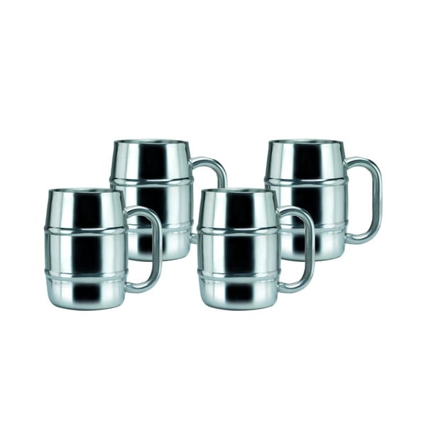 Keep-Kool 16.9-ounce Double-wall Stainless Steel Mugs (Set of 4)