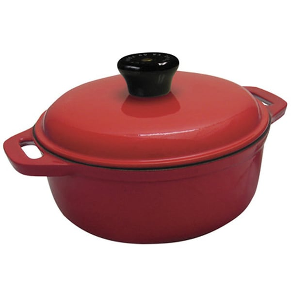 Le Cuistot Classic Enameled Cast-iron Round Red Casserole Dish