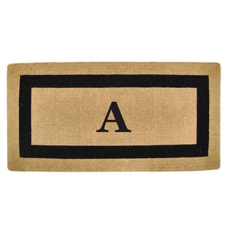Heavy Duty Coir Picture Frame Large Monogrammed Doormat