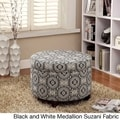 Kinfine Large Round Storage Ottoman